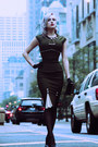 Army-green-stop-staring-dress-black-clutch-old-bag