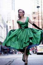 green 1950s Elochka dress - green old shoes