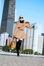Tan-camel-wool-fall-oasap-coat-black-spiked-oasap-socks