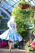 sky blue floral The Pretty Dress Company dress