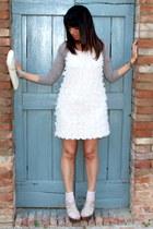 light pink H&M dress - ivory vintage bag - light brown shrug ChiccaStyle top - l