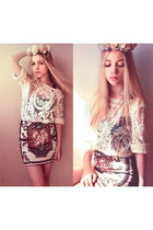 chicnova skirt - chicnova top