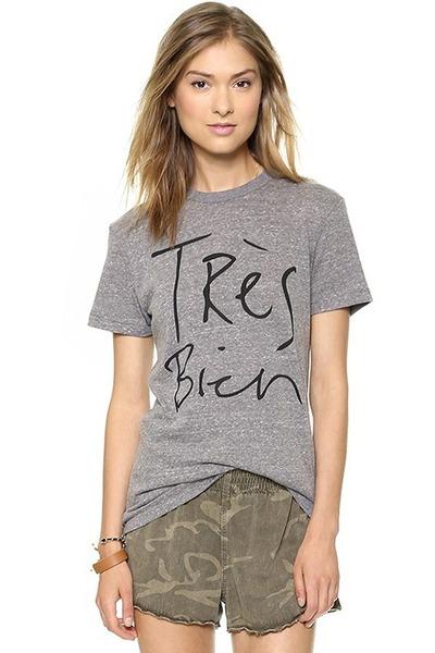 gray crew neckstreet chicnova t-shirt