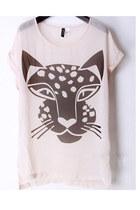animal print t-shirt