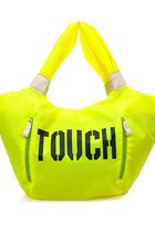 Neon Tote Bags with Zip Detail