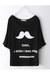 moustache print t-shirt