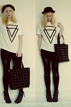chicnova shirt - blackpuleggings chicnova leggings - chicnova bag