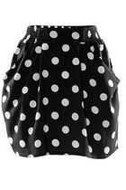 Retro Mini Skirt with Contrast Spot Detail 