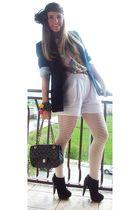 Zara blazer - Topshop shoes - Zara shorts - vintage belt - Zara top
