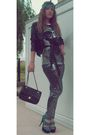 Zara-pants-topshop-shoes-new-yorker-t-shirt-new-yorker-jacket-chanel-pur