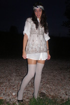 vintage dress - Calzedonia socks - vintage accessories - pull&bear shoes