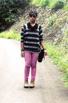 Old Navy sweater - So FAB boots - Maze bag - korean brand pants