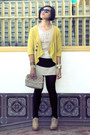 Zest-dress-vintage-bag-secondhand-cardigan-parisian-heels