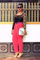 DIY top - Parkmall bag - vintage pants - Parisian heels