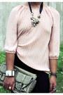 Parkmall-pants-secosana-bag-vintage-blouse-parisian-wedges