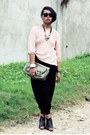 Secosana-bag-parkmall-pants-vintage-blouse-parisian-wedges