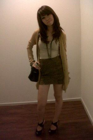 Mango - Zara skirt - random brand accessories - playboy jacket - random from Hon