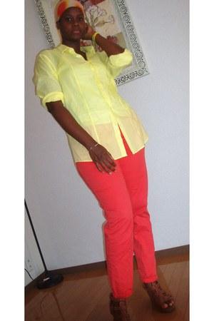 H&M shirt - H&M pants - Rockport wedges