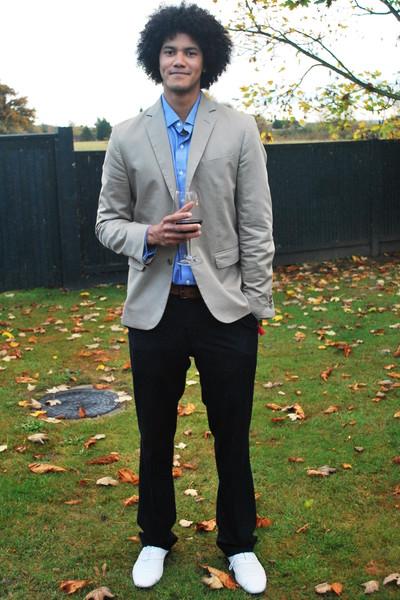 Gap blazer - Polo by Ralph Lauren shirt - Levis belt - Zara pants - versace shoe