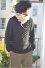 Beige-cocowai-scarf-black-h-m-sweater-brown-gucci-pants-black-converse-sho