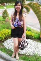 Soul Lifestyle top - black and pink Juicy Couture bag - shorts - Grendha sandals