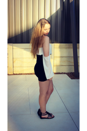 Sheinside top - Target skirt - Lovista necklace - Target sandals