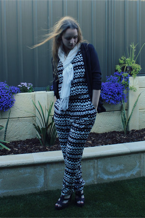 Target scarf - Valley Girl blazer - Myer romper - Target sandals