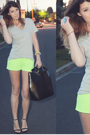 Forever 21 shorts - Forever 21 shirt - Zara bag - Zara heels