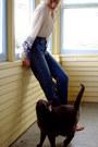 Blue-vintage-guess-jeans-ivory-village-book-of-deer-blouse