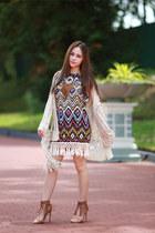 tassel shein dress
