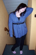 H&M shirt - my boyfriends wardrobe shirt - my mums wardrobe belt - zoo york pant