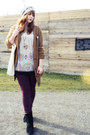 Purple-h-m-jeans-beige-accessorize-hat-eggshell-yumi-top
