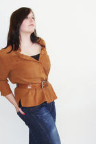 brown The Little Owl Vintage & 2nd Hand blouse