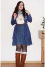 Blue-object-skirt