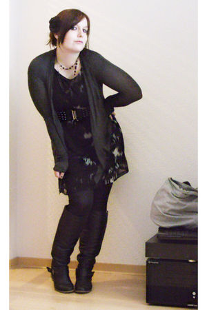 black H&M dress - black Orsay leggings