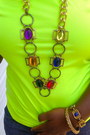 Blue-steve-madden-shoes-yellow-neon-shirt-diy-cutoff-shorts
