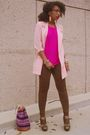 Purple-vintage-bag-pink-vintage-blazer-pink-vintage-top-green-qupid-shoes