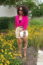 pink vintage blouse - brown Ralph Lauren - vintage purse