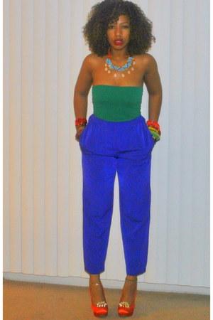 diy embellished Shoes heels - high waist Style Revolver pants