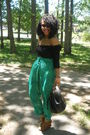 Green-vintage-pants-black-vintage-purse-black-h-m-top-brown-urban-og-shoes