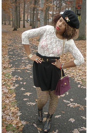 Co-Op top - skirt - H&amp;M tights - accessories - shoes