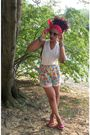Pink-vintage-shorts-white-diy-shirt-pink-chinese-laundry-shoes-red-mums-sc