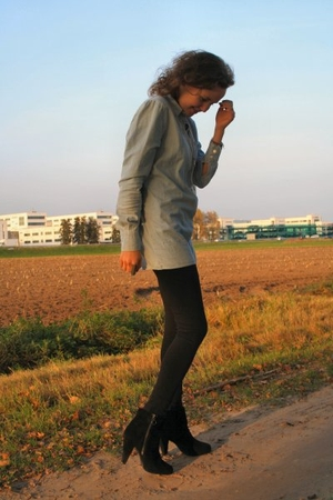 acne blouse - H&M leggings - H&M shoes