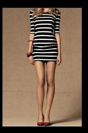 black BLANCO dress - red BLANCO shoes - silver BLANCO belt - red BLANCO bracelet