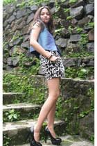 skirt - blouse - centropel pumps