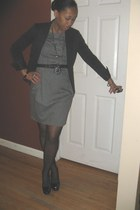 black tailored cut Jacket blazer - charcoal gray Zara dress