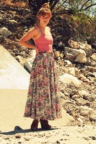 vintage skirt - seychelles wedges