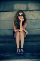 Jessica Simpson heels - Charming Charlie dress - vintage sunglasses
