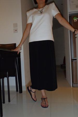 maxi dress none dress - Zara top - Burberry sandals