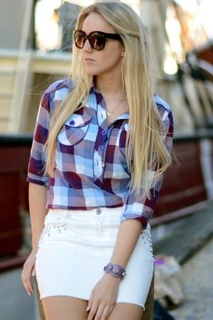 WESC shirt - Celine sunglasses - New Yorker skirt - balenciaga bracelet